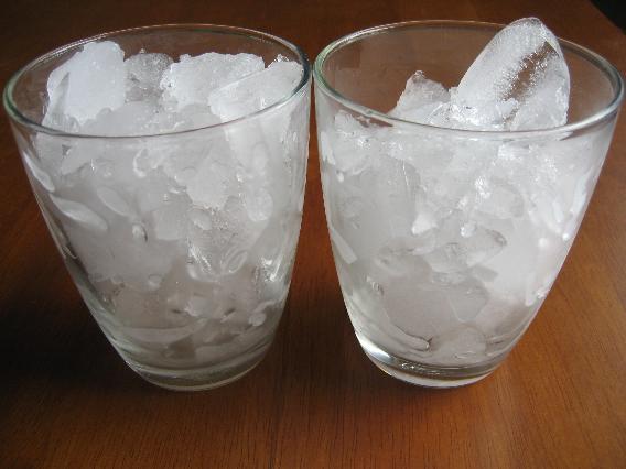 can ice cubes make a dog sick